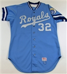 1984 Larry Gura GU Kansas City Royals Jersey