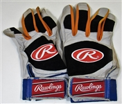 2000 Rickey Henderson Game Used Mets Batting Gloves