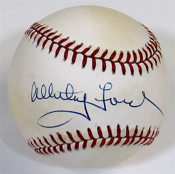 Whitey Ford Signed Baseball - JSA