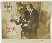 Lana Turner Signed Portrait in Black Promo 60/206 Photo