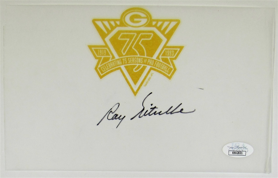 Ray Nitschke Signed Green Bay Packers 75th Season
