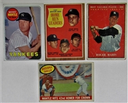 Mickey Mantle & Roger Maris Card Lot of 4