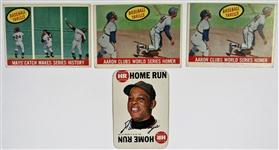 Willie Mays & Hank Aaron Card Lot of 4