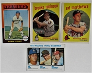 Robin Yount-Brooks Robinson-Eddie Mathews- Rookie Mike Schmidt Cards