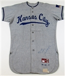 1969 Ellie Rodriguez Game Used & Signed Kansas City Royals Road Jersey