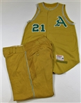 1963 Ed Rakow Game Used  KC As Jersey & Pants