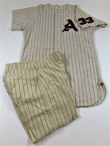 1961 Joe Nuxhall Game Used KC A's Jersey & Pants