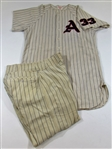 1961 Joe Nuxhall Game Used KC As Jersey & Pants